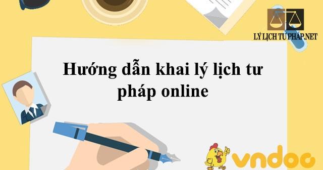 Hướng dẫn đăng ký lý lịch tư pháp trực tuyến